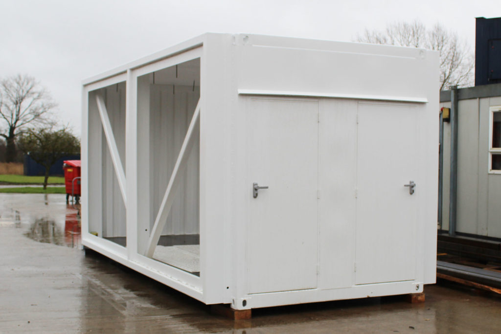 Converted container exterior