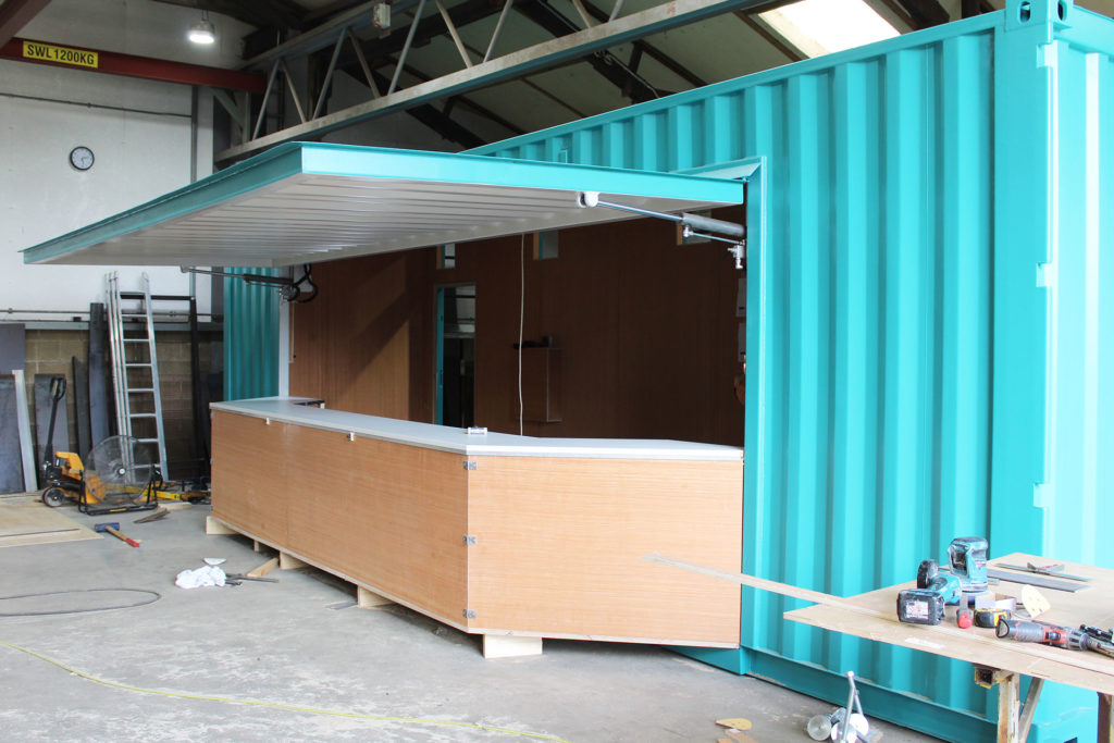 food kiosk container conversion in progress