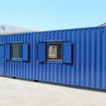 Converted container kitchen & office