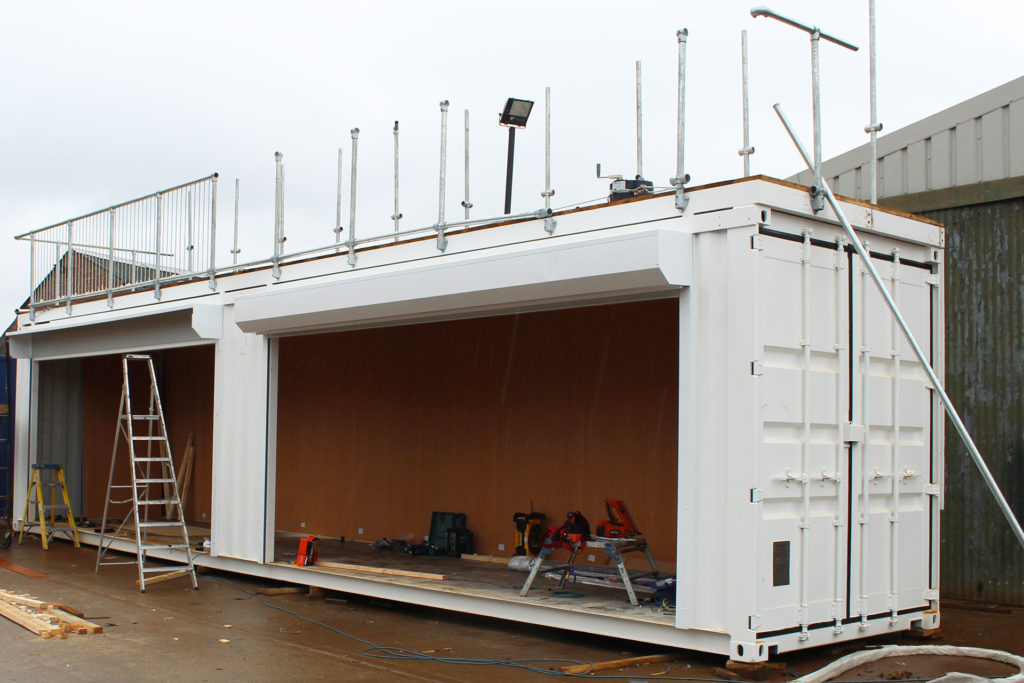 base of container bar conversion