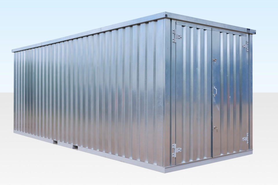 20ft Container - Side View Doors Closed
