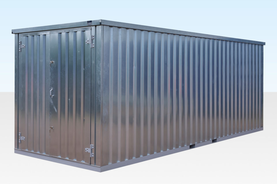 Galvanised Steel 6m Store