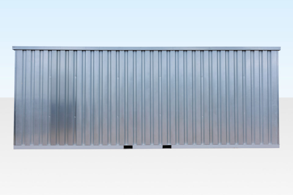 Length view of 6m flat pack store