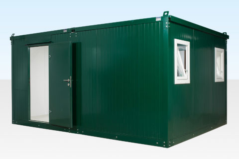 3.3m x 4.6m Side Linked Flat Pack Office - External View