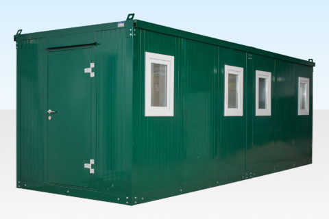 6.6m End Linked Flat Pack Office cabin External